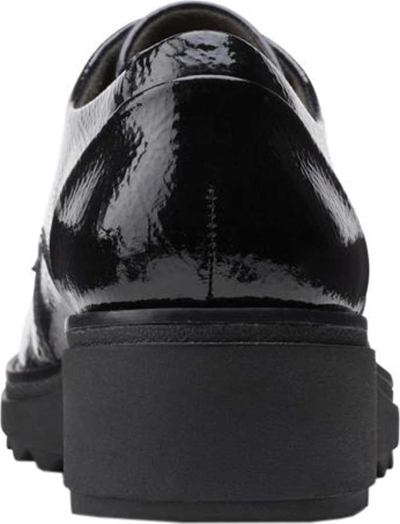 Women's Clarks Sharon Noel Sneaker, Black Synthetic Crinkle Patent, large, image 4