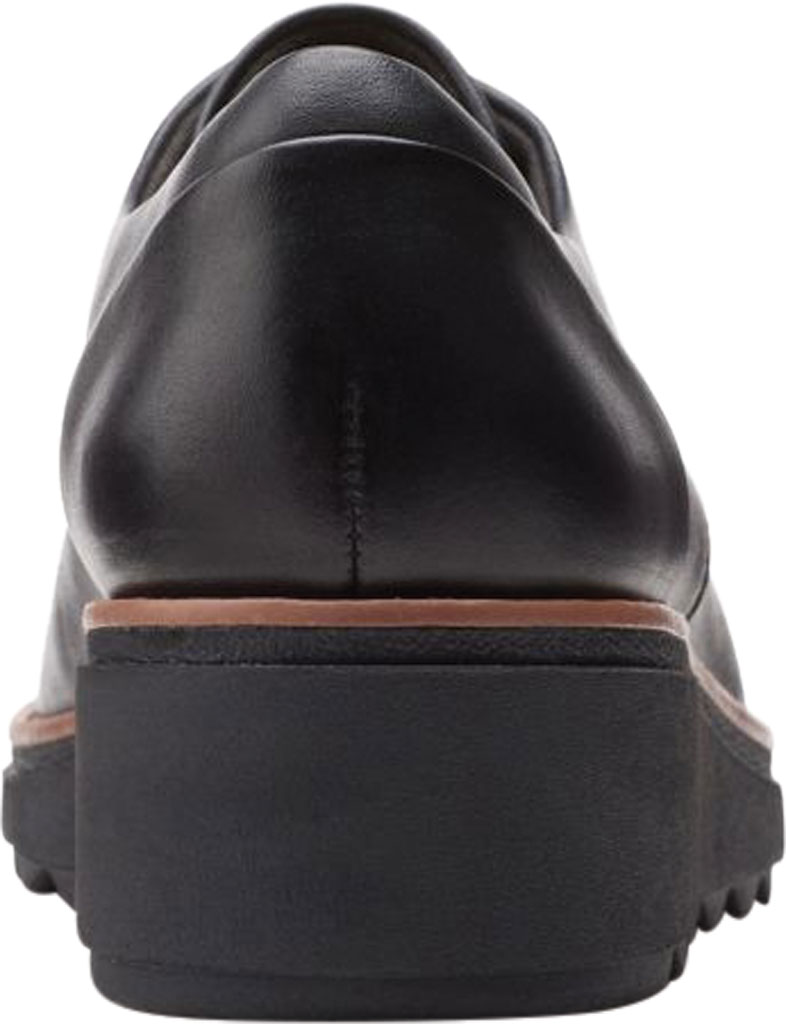 Women's Clarks Sharon Noel Sneaker, Black/Dark Tan Welt Full Grain Leather, large, image 4