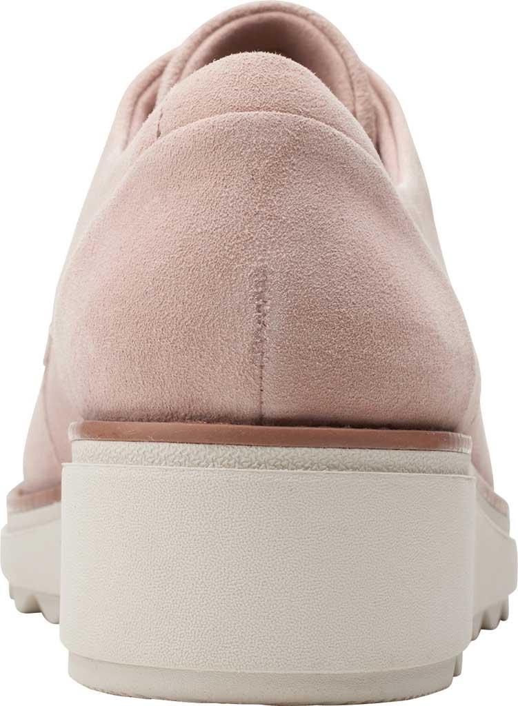 Women's Clarks Sharon Noel Sneaker, Matte Pink Suede, large, image 4