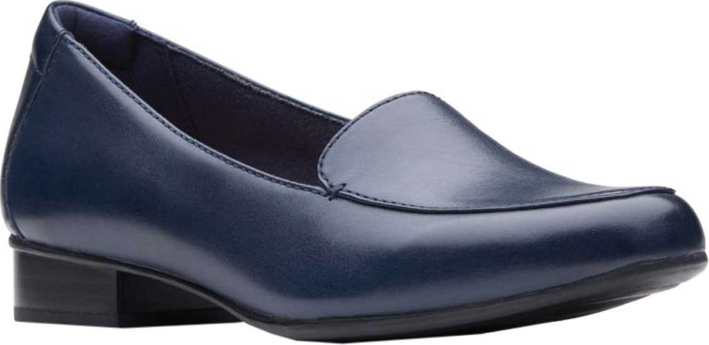 Women's Clarks Juliet Lora Loafer, Navy Leather, large, image 1