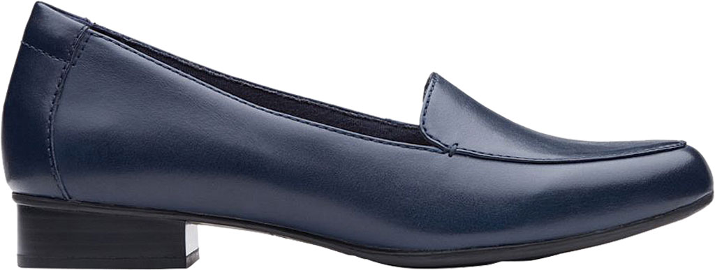 Women's Clarks Juliet Lora Loafer, Navy Leather, large, image 2