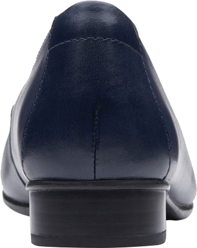 Women's Clarks Juliet Lora Loafer, Navy Leather, large, image 4