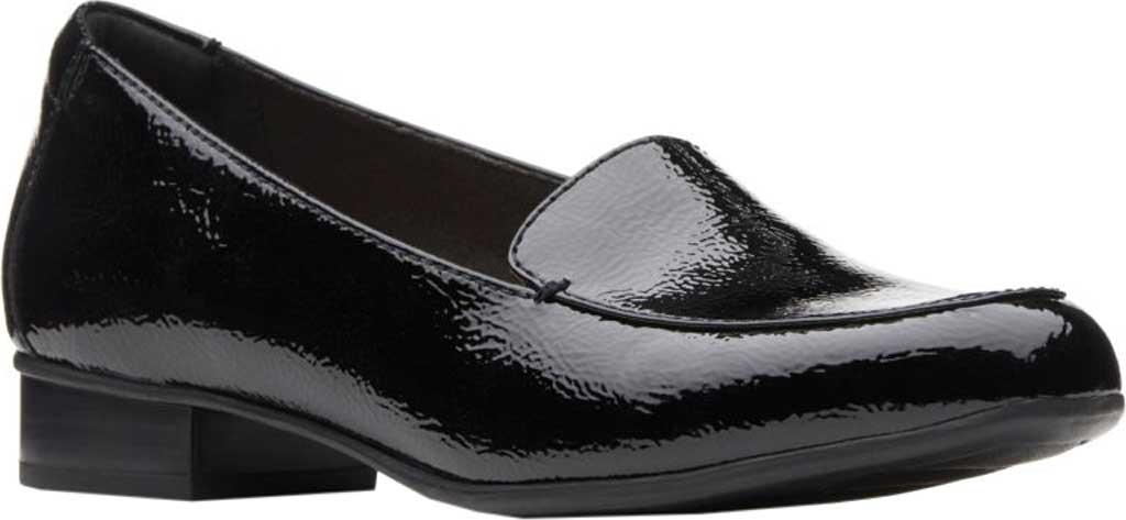 Women's Clarks Juliet Lora Loafer, Black Patent Leather, large, image 1