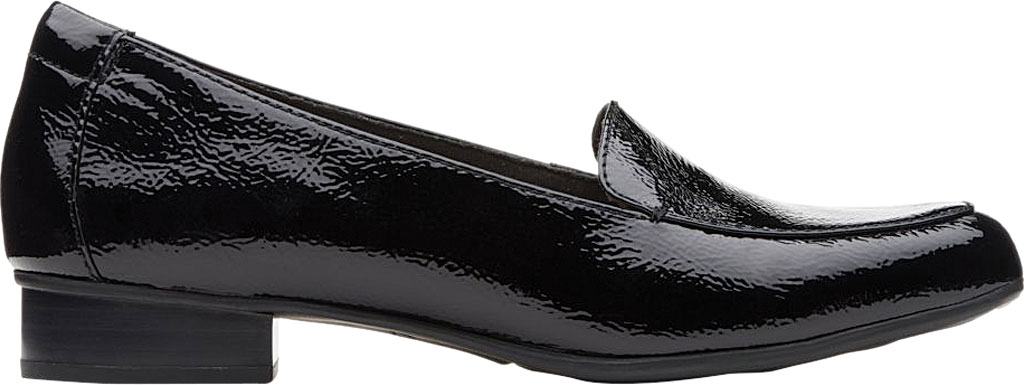 Women's Clarks Juliet Lora Loafer, Black Patent Leather, large, image 2