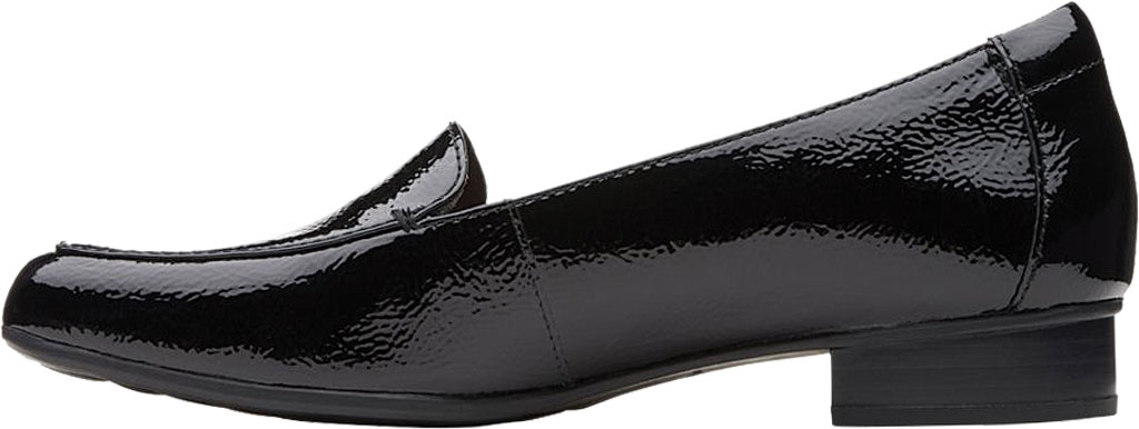 Women's Clarks Juliet Lora Loafer, Black Patent Leather, large, image 3