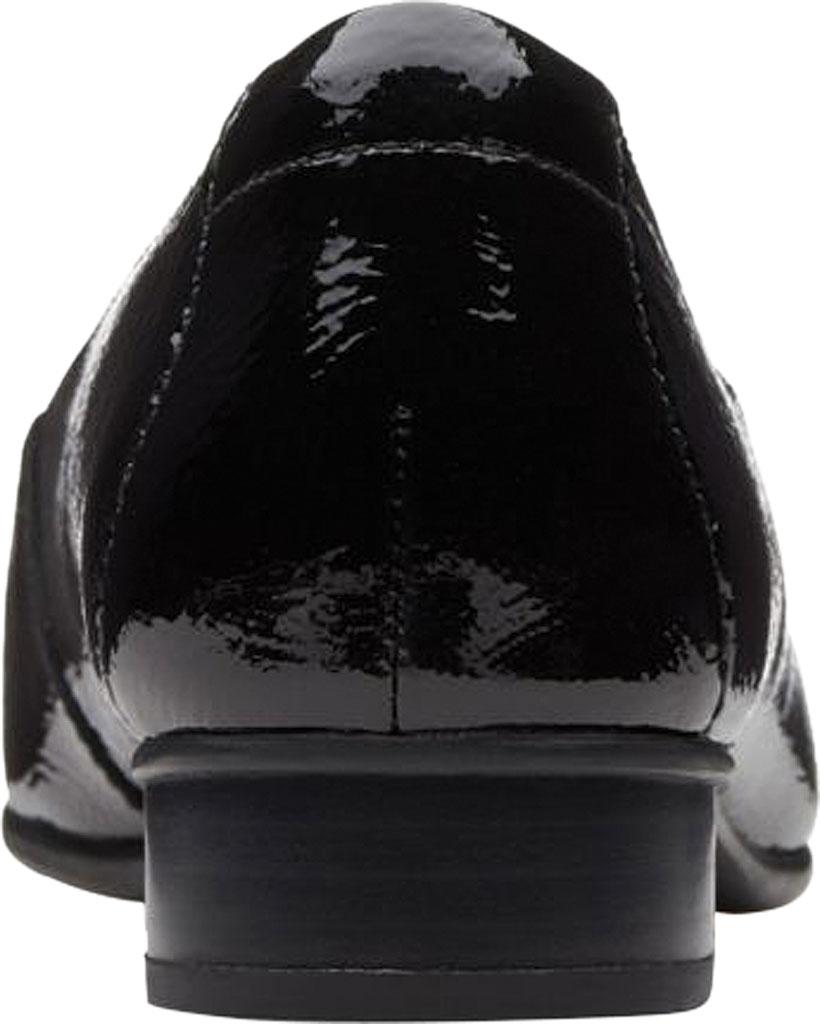 Women's Clarks Juliet Lora Loafer, Black Patent Leather, large, image 4
