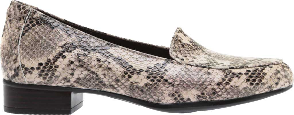 Women's Clarks Juliet Lora Loafer, Taupe Snake Synthetic, large, image 2