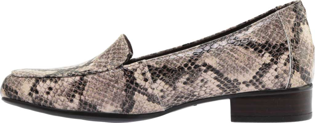 Women's Clarks Juliet Lora Loafer, Taupe Snake Synthetic, large, image 3