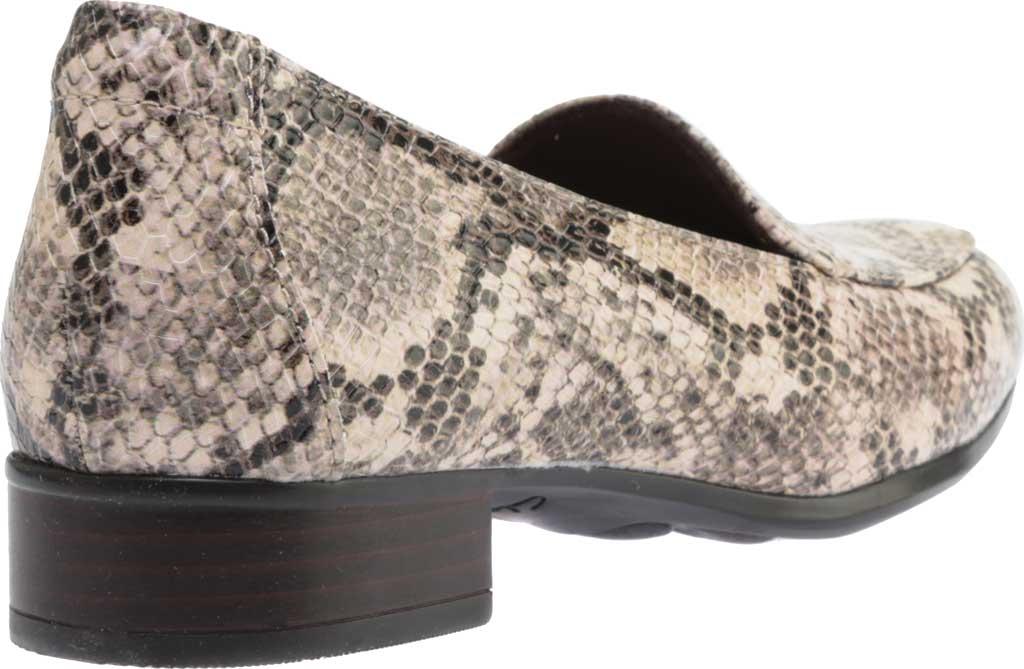 Women's Clarks Juliet Lora Loafer, Taupe Snake Synthetic, large, image 4