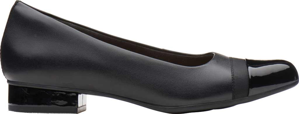 Women's Clarks Juliet Monte Slip-On, Black Leather, large, image 2