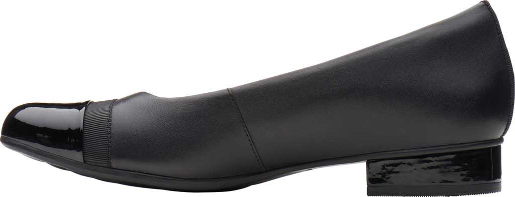 Women's Clarks Juliet Monte Slip-On, Black Leather, large, image 3