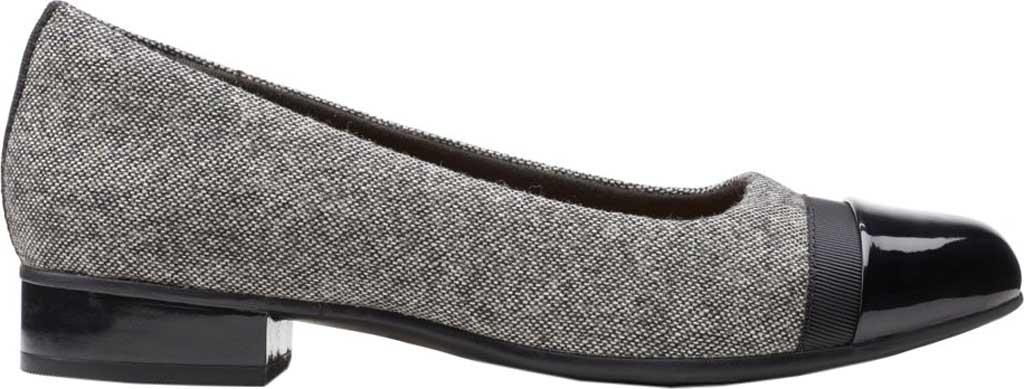 Women's Clarks Juliet Monte Slip-On, Black Tweed Textile, large, image 2