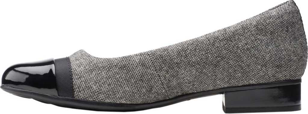 Women's Clarks Juliet Monte Slip-On, Black Tweed Textile, large, image 3