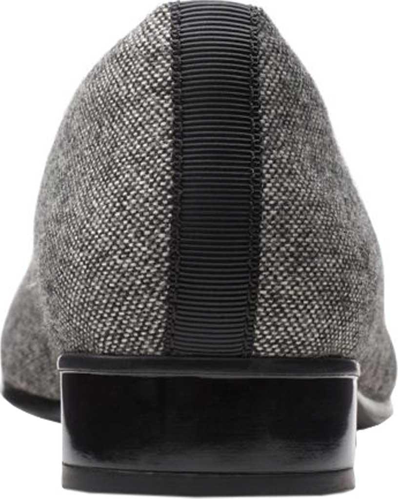 Women's Clarks Juliet Monte Slip-On, Black Tweed Textile, large, image 4