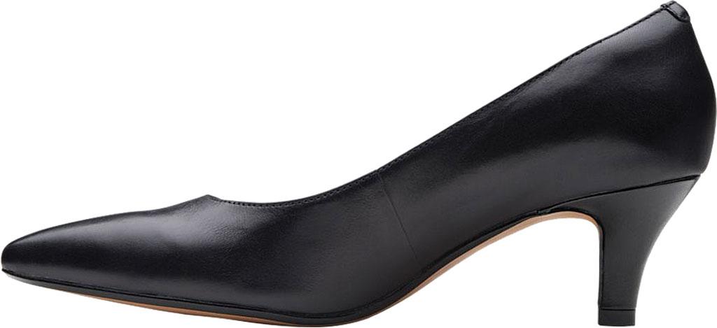 Women's Clarks Linvale Jerica Pump, Black Full Grain Leather, large, image 3