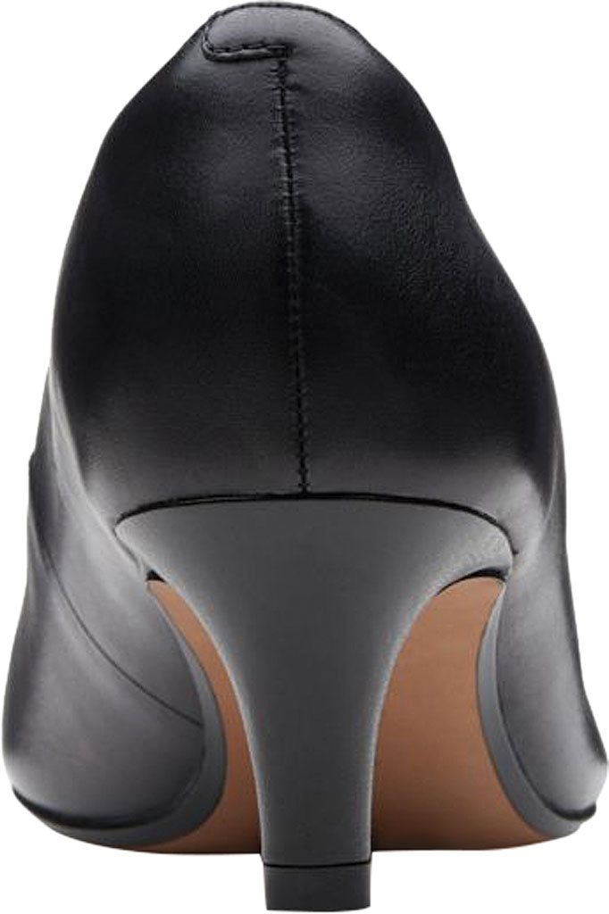 Women's Clarks Linvale Jerica Pump, Black Full Grain Leather, large, image 4