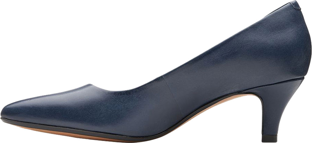 Women's Clarks Linvale Jerica Pump, Navy Full Grain Leather, large, image 3