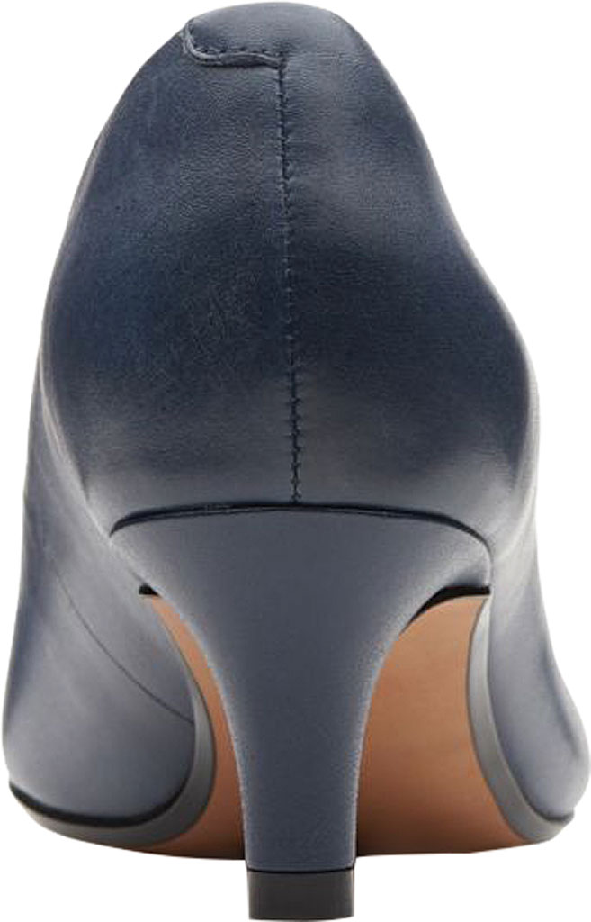 Women's Clarks Linvale Jerica Pump, Navy Full Grain Leather, large, image 4