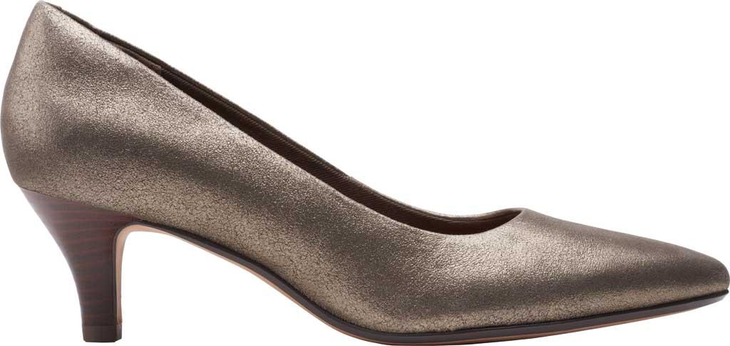 Women's Clarks Linvale Jerica Pump, Metallic Leather, large, image 2
