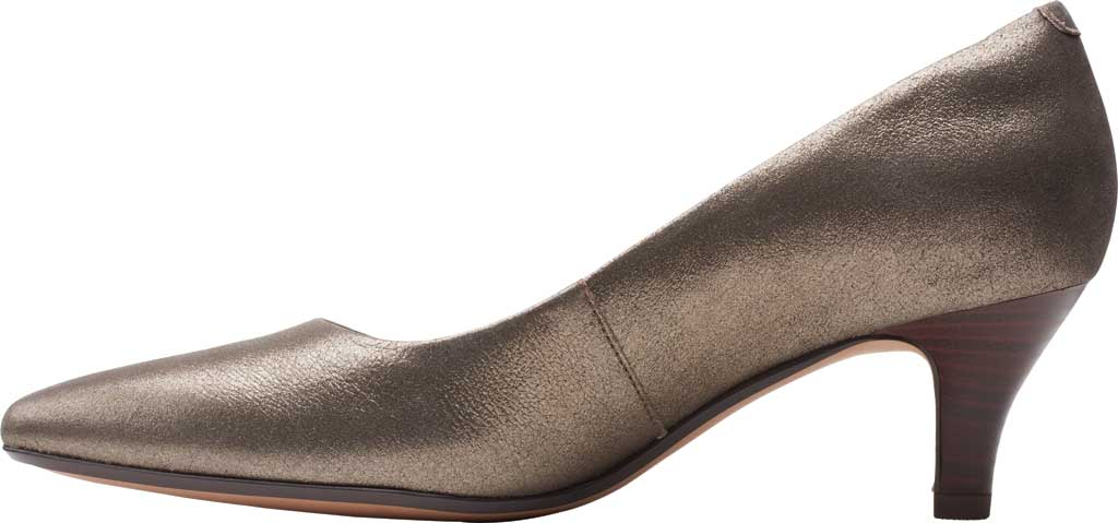 Women's Clarks Linvale Jerica Pump, Metallic Leather, large, image 3