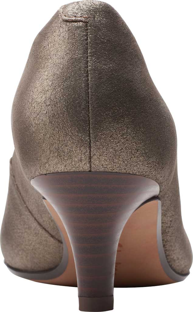 Women's Clarks Linvale Jerica Pump, Metallic Leather, large, image 4