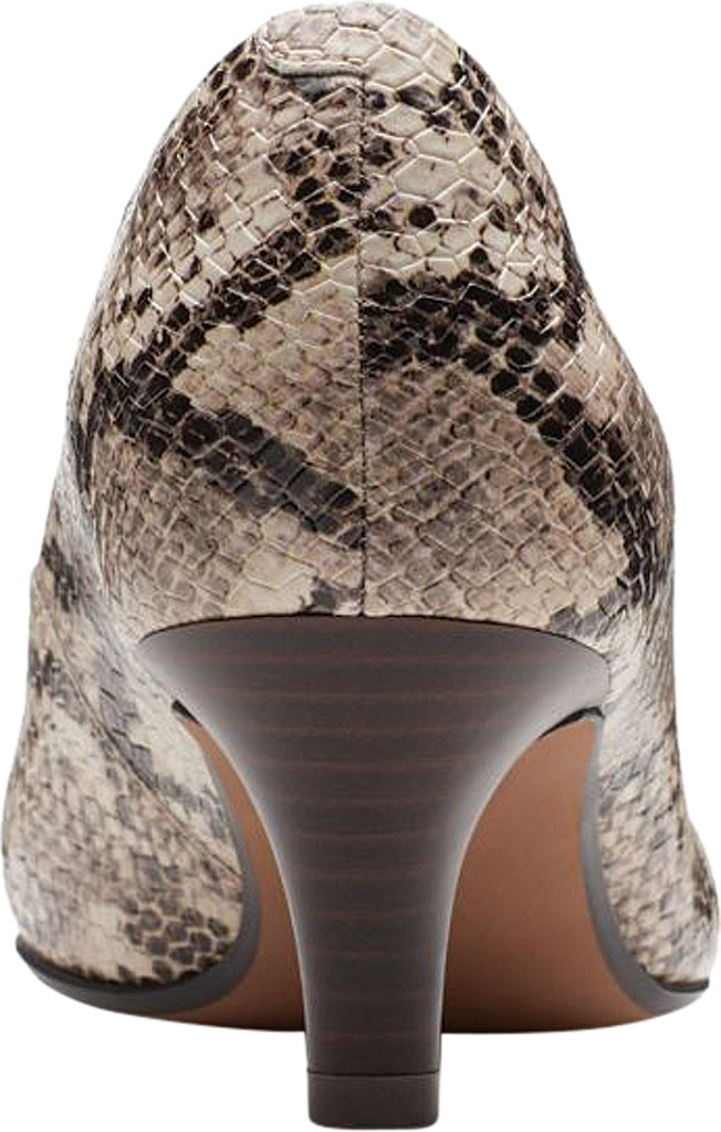 Women's Clarks Linvale Jerica Pump, Taupe Snake Textile, large, image 4