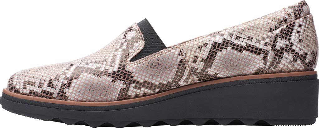 Women's Clarks Sharon Dolly Loafer, Brown Snake Synthetic, large, image 3