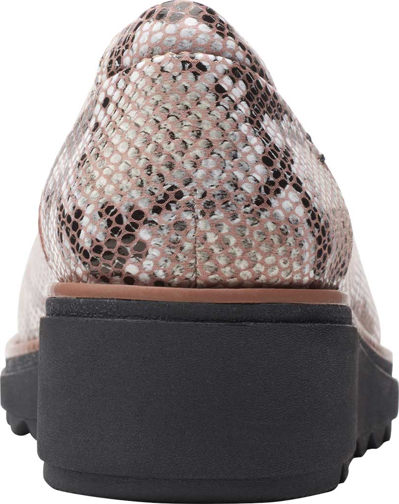Women's Clarks Sharon Dolly Loafer, Brown Snake Synthetic, large, image 4