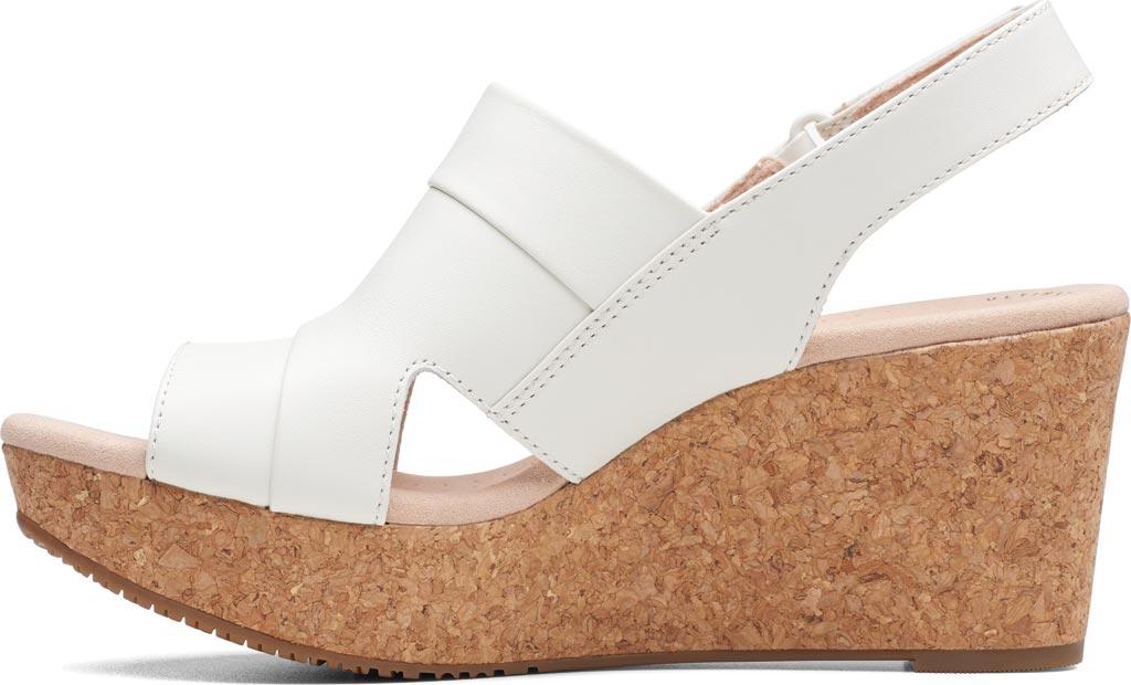 Women's Clarks Annadel Ivory Wedge Sandal, White Leather, large, image 3