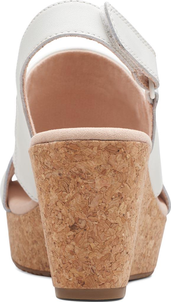Women's Clarks Annadel Ivory Wedge Sandal, White Leather, large, image 4