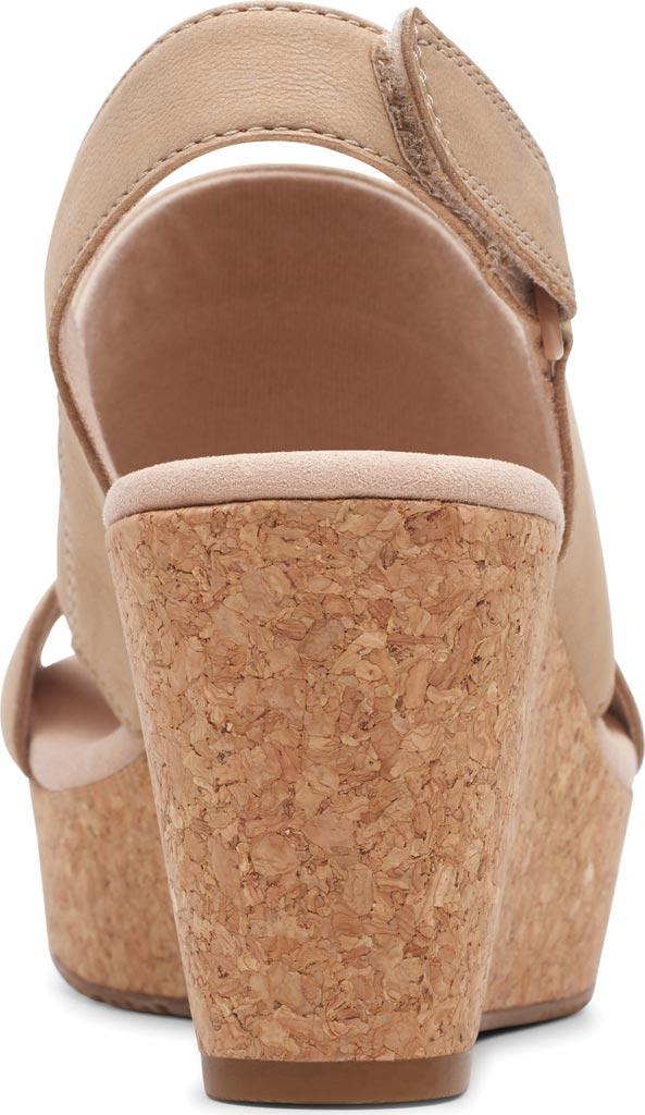 Women's Clarks Annadel Ivory Wedge Sandal, Sand Nubuck, large, image 4