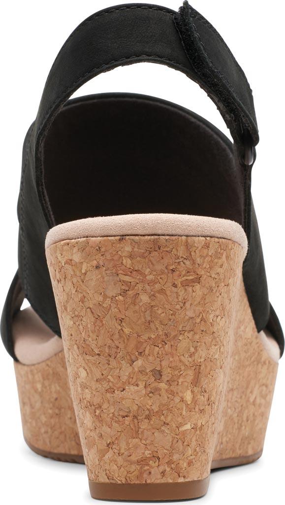 Women's Clarks Annadel Ivory Wedge Sandal, Black Nubuck, large, image 4