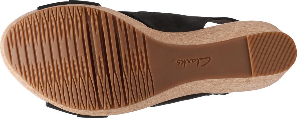 Women's Clarks Annadel Ivory Wedge Sandal, Black Nubuck, large, image 6