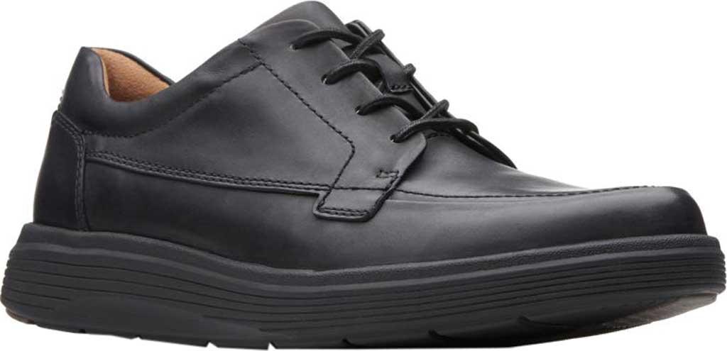 Men's Clarks Un Abode Ease Sneaker, Black Leather, large, image 1
