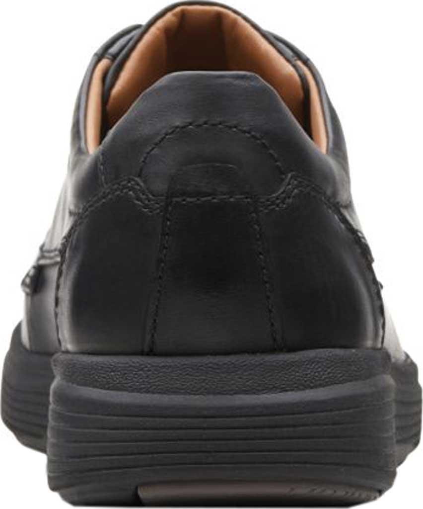 Men's Clarks Un Abode Ease Sneaker, Black Leather, large, image 3