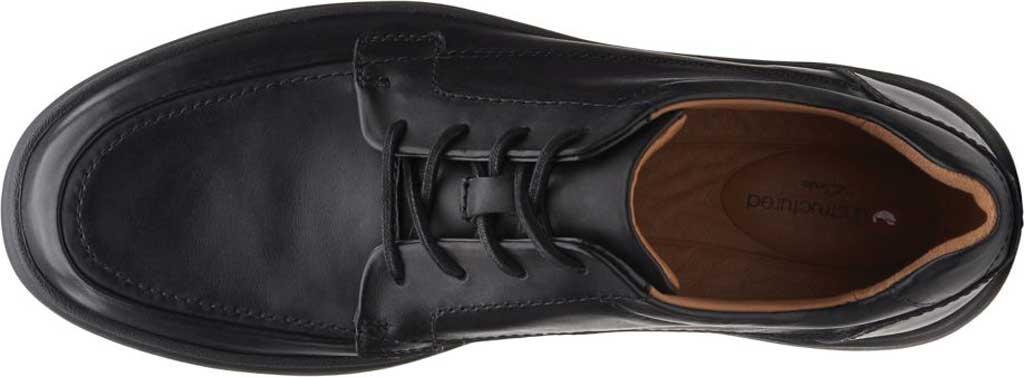 Men's Clarks Un Abode Ease Sneaker, Black Leather, large, image 4