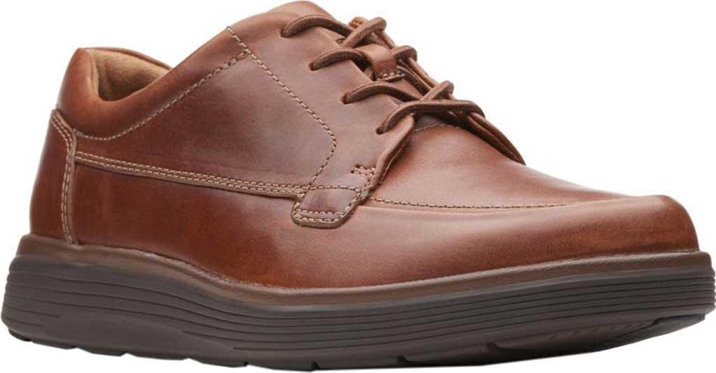 Men's Clarks Un Abode Ease Sneaker, Dark Tan Leather, large, image 1