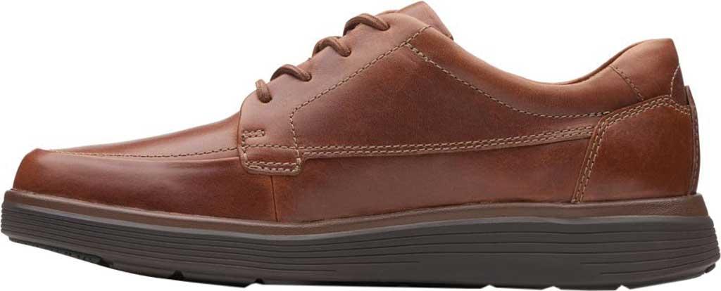 Men's Clarks Un Abode Ease Sneaker, Dark Tan Leather, large, image 2