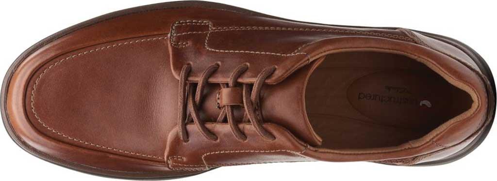 Men's Clarks Un Abode Ease Sneaker, Dark Tan Leather, large, image 4