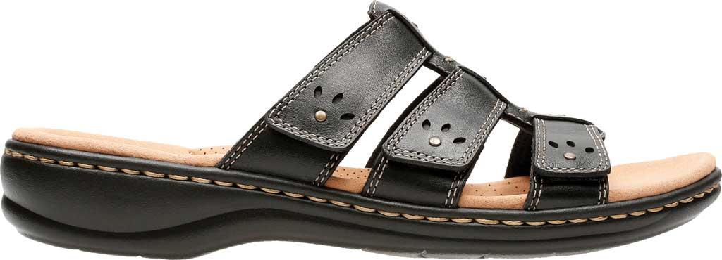 Women's Clarks Leisa Spring Strappy Sandal, Black Full Grain Leather, large, image 2