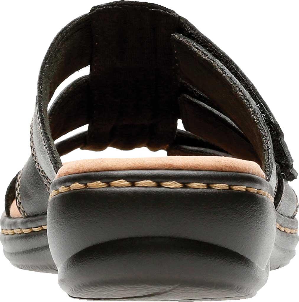 Women's Clarks Leisa Spring Strappy Sandal, Black Full Grain Leather, large, image 3