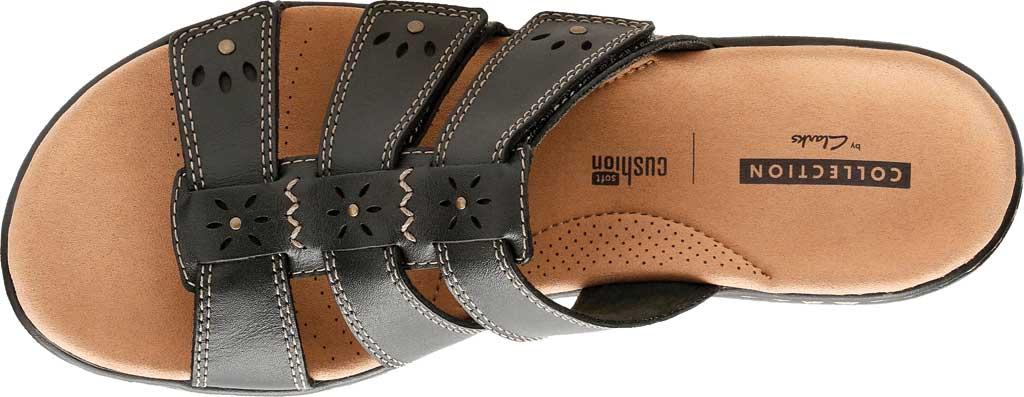 Women's Clarks Leisa Spring Strappy Sandal, Black Full Grain Leather, large, image 4