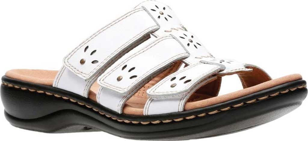 Women's Clarks Leisa Spring Strappy Sandal, White Full Grain Leather, large, image 1