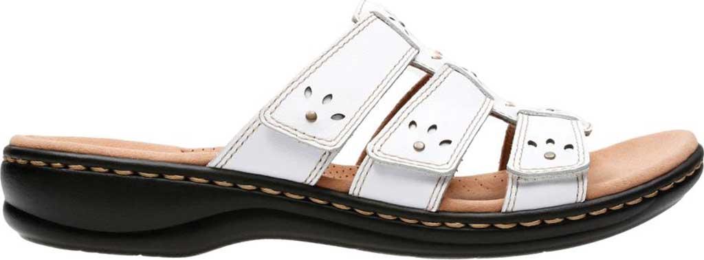 Women's Clarks Leisa Spring Strappy Sandal, White Full Grain Leather, large, image 2