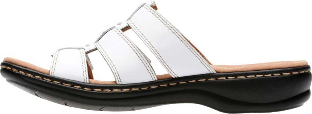Women's Clarks Leisa Spring Strappy Sandal, White Full Grain Leather, large, image 3