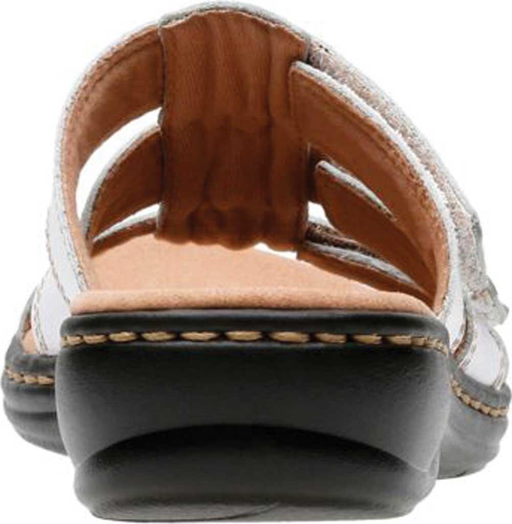 Women's Clarks Leisa Spring Strappy Sandal, White Full Grain Leather, large, image 4