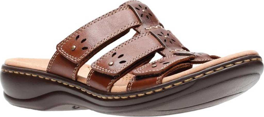 Women's Clarks Leisa Spring Strappy Sandal, Brown Mult Full Grain Leather, large, image 1