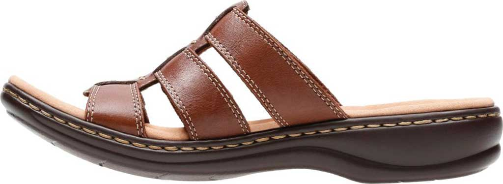 Women's Clarks Leisa Spring Strappy Sandal, Brown Mult Full Grain Leather, large, image 3