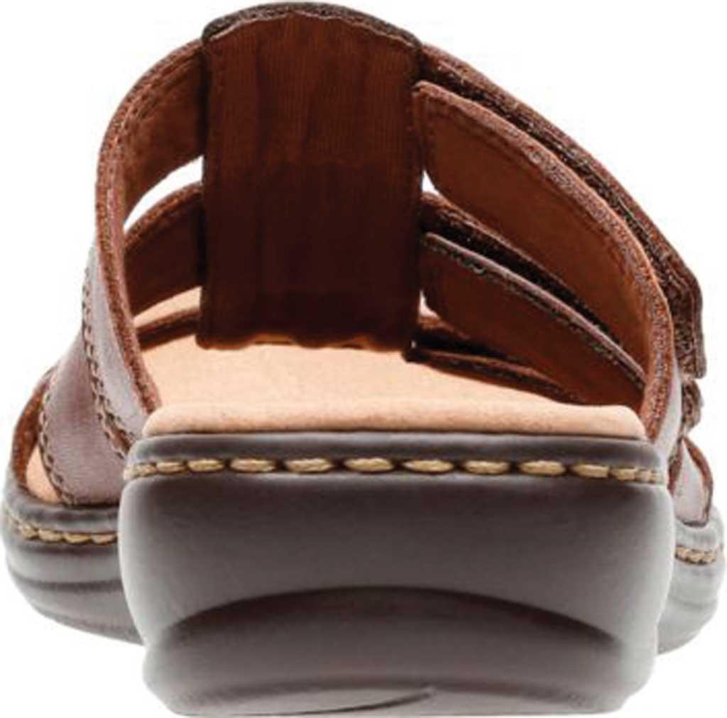 Women's Clarks Leisa Spring Strappy Sandal, Brown Mult Full Grain Leather, large, image 4