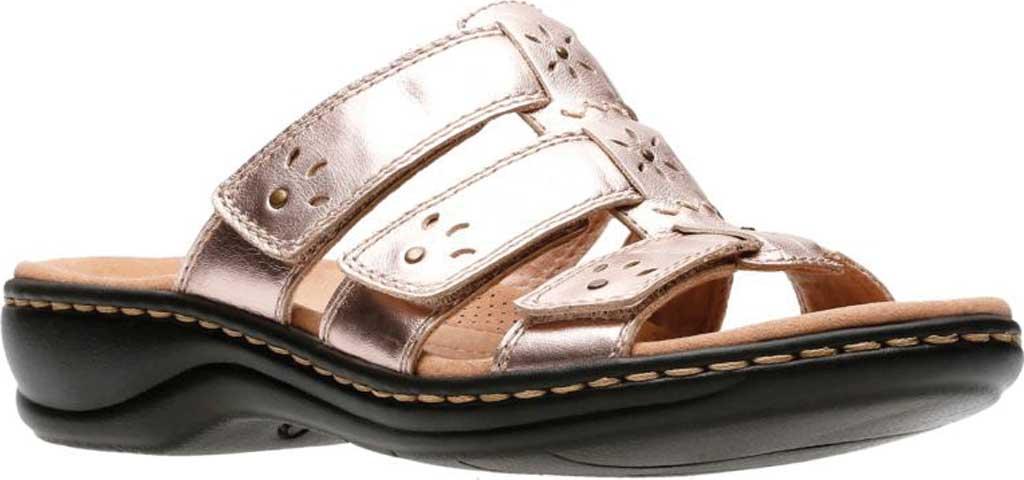 Women's Clarks Leisa Spring Strappy Sandal, Rose Gold Full Grain Leather, large, image 1